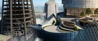 Project 997:- Sky Scene Exterior Architectural Rendering High-Rise landscaping View