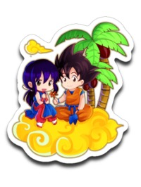 Goku and ChiChi DBZ Dragonball Z Sticker Decal $5.00 https://www.nurdtyme.com