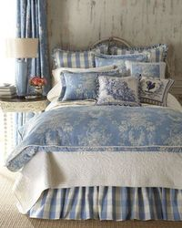 "Sherry Kline Home Collection Country Manor Bedding; add sheets w/small dots similar to homebyheidi.com to make the set less ""serious"" but more homey. Add paisley to the mix?"