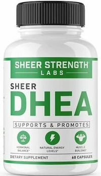 Extra Strength DHEA 50mg Supplement Boosts Lean Muscle Mass Restores Energy