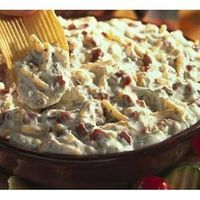 Bacon & Cheddar Dip 1 1-ounce packet Hidden Valley® Original Ranch® Dips Mix 1 16-ounce container sour cream (or Greek yogurt even better!) 1 cup shredded cheddar cheese 4 stripsthick cut bacon, cooked, crisp and crumbled directions: 1. In a...