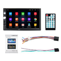 7 Inch 2 Din HD Car Radio MP5 Player Touch Screen GPS bluetooth Support Rear Camera with Remote Control