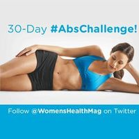 "Flat abs are made in the gym�€""AND the kitchen. Use our 30 day ab challenge and eating strategies to get a flatter stomach in 30 days!"