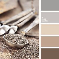 The traditional combination of gray, beige and brown colors in one palette. Warm tone emphasizes dark chocolate color and enhanced by light shades of brown. Harmonious and stylish combination of interior decoration cafe, restaurant or kitchen. Perfect sol...