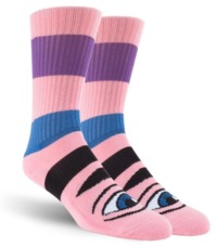Toy Machine Skateboard Crew Socks - Sect Eye Big Stripe Pink $9.99