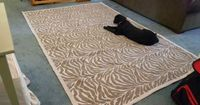 Do you need a rug, but are on a budget. try making a fabric rug. This great fabric rug tutorial is a great place to start! Give it a try.