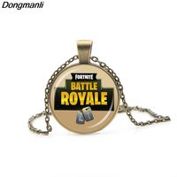 P2085 Dongamnli Hot FPS Game Fortnite Battle Royale Necklace Time Gem Pendant Vintage&Personalized Jewelry for fans $2.82