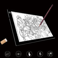 Graphics Tablet Drawing Tablet 3 LED Light Modes Graphic Writing Digital Tracer Copy Pad Board for Diamond Painting Sketch