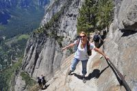 Hiking Yosemite Falls - not for the weak of heart, Although the trail is heavily traveled, it is a challenging climb. But the view is well worth it