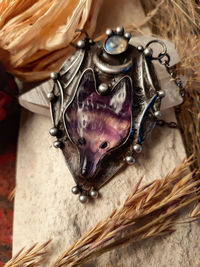 Wolf necklace, nature jewelry, nature lover gift, woodland animals, wolf head. $58.50