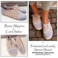 Pattern I want to buy! Ravelry: E-Book - 2in1-Patterns for basic Pearl Slippers, Included the Cord-Sole Tutorial - patterns