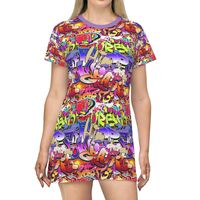 Graffiti HipHop T Shirt Festival Dress Moisture Wicking Strong Elastic Fabric Vibrant Best Quality Pigment Inks Sizes XS - 2XL $24.99 https://www.etsy.com/shop/LAFabriKDesigns?ref=ss profile