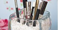 A great way to organize make-up brushes - Click image to find more DIY & Crafts Pinterest pins