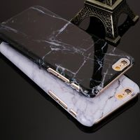 New Granite Marble Texture Pattern Phone Cases Hard PC Case for iPhone 5 5S SE 6 6S 6Plus 6s plus 7 7Plus Shockproof Phone Bag £1.89