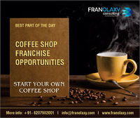 Looking for coffee shop franchise business opportunities?  We provide a wide variety of coffee shop brands franchise business opportunities to run a successful business.  Call us for your inquiry at +91 6207902001 or email us at info@franolaxy.com
