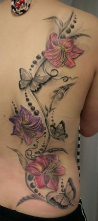 Lily And Butterfly Tattoo Photo: This Photo was uploaded by emo sakura121. Find other Lily And Butterfly Tattoo pictures and photos or upload your own w...