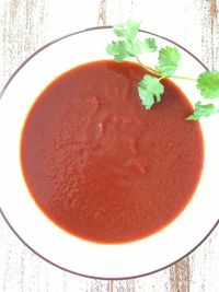 This recipe for a basic red enchilada sauce is super easy and tastes great! I left this sauce with a little bit of heat, but not enough to burn my toddlers tast