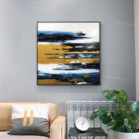 Framed wall art Gold and Black Paintings on canvas Modern abstract texture acrylic painting large wall art palette knife cuadros abstractos $109.00