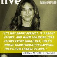 inspirational quotes, jillian michaels and health magazine.
