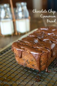 Chocolate Chip Cinnamon Bread - a great treat this holiday season. Make as gifts, or keep it for yourself!: