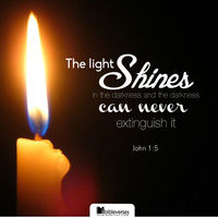 The light shines in the darkness, and the darkness has not overcome it. -John 1:5...http://ibibleverses.christianpost.com/?p=85190  #light #shines #darkness