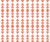 Coral Tribal Triangles - modfox - Spoonflower