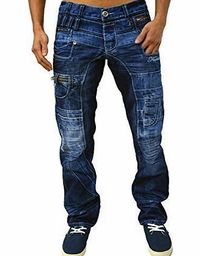 Kosmo Lupo Jeans Designer Mens Tapered Fit Funky Denim Pants Trousers Bottoms KM 020, KM 040 Stylish Tapered Fit Denim. Button Fly Fastening. Lovely for a Night Out or Casual Wear (Barcode EAN = 5055900419730). http://www.comparestoreprices.co.uk/...