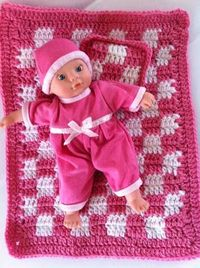 """Baby Doll Afghan & Pillow ~ **Free Crochet Pattern ~ This would be excellent for """"Micro-Preemies**"""