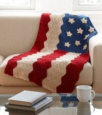 American Flag Afghan ~ Pinned for the star pattern.