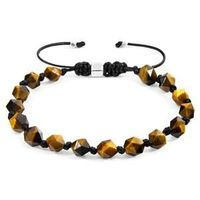 The Brown Tigers Eye Zebedee Silver and Stone Beaded Macrame Bracelet was both designed and skilfully handcrafted completely in Great Britain, In Quality We Trust. For the Modern Journeyman (and woman), ANCHOR & CREW takes ownership of an expl...