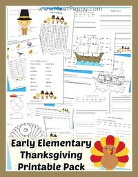 With an abundance of Thanksgiving-themed preschool printables available across the blogosphere, I thought it was time for the older students to have some fun to