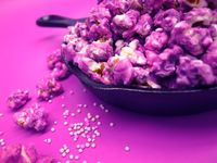 Make purple popcorn for your Tangled Movie Night
