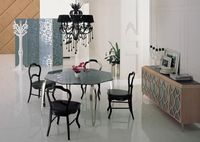 stainless steel Dinning table with dining room set with 4 chairs, glass top table moderns style wooden chairs GHS6594.50