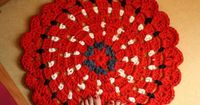 Busy fingers, busy life...: Pattern: Granny Flower Circle Rug
