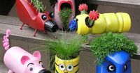 Celebrate Earth Day this year by creating upcycled planter characters with your older children. Inspire creativity by looking at plastic containers around the h