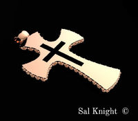 The cross by Sal Knight © < #jewelry #oneofkind #specialorder #customize #honest #integrity #diamond #gold #rings #weddingband #anniversary #finejewelry #salknight