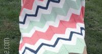 *Post contains affiliate links* Well it's about time I posted about this! I'm sure you have seen this mint green, coral, white, and navy blue chevron baby blank